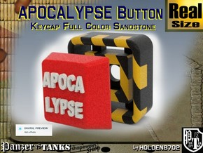 Full Color Button of APOCALYPSE in Full Color Sandstone