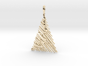 Christmas Tree Pendant Style 1 in 14k Gold Plated Brass
