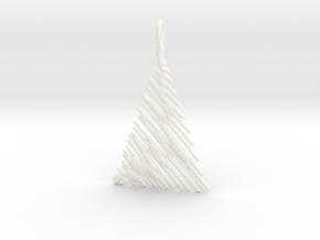 Christmas Tree Pendant Style 1 in White Processed Versatile Plastic