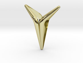 YOUNIVERSAL Smooth & Sharp, Pendant in 18k Gold Plated Brass