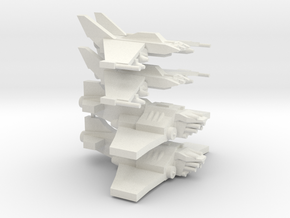 [5] 2x Light Strike Fighter, 2x Heavy Fighter in White Natural Versatile Plastic