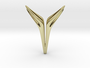 YOUNIVERSAL FREE, Pendant. Sharp Chic in 18k Gold Plated Brass