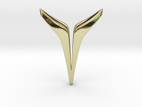 YOUNIVERSAL Delicate, Pendant. Soft Elegance in 18k Gold Plated Brass