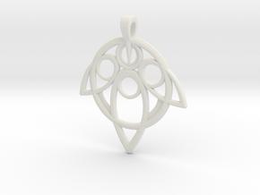 Yuna Summoner Pendant  in White Natural Versatile Plastic