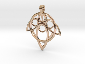 Yuna Summoner Pendant  in 14k Rose Gold