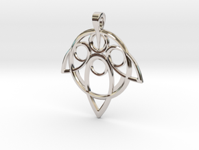 Yuna Summoner Pendant  in Platinum