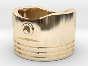Piston - US Size 8 in 14K Yellow Gold
