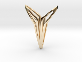 YOUNIVERSAL FIGURA Pendant. Sculpted Chic in 14K Yellow Gold