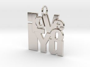 ILU Collage Pendant in Rhodium Plated Brass