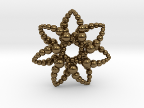 Bubble Star 7 Points - 4cm in Polished Bronze