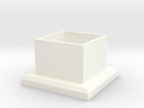 TARDIS Ring Box Part 2 in White Processed Versatile Plastic