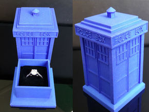 TARDIS Ring Box Part 1 in Blue Strong & Flexible Polished