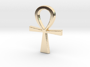 Ankh Pendant in 14K Yellow Gold