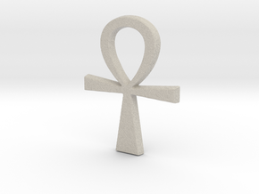 Ankh Pendant in Natural Sandstone