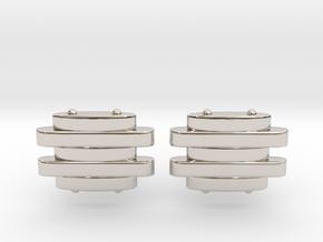 Strap Cufflinks in Rhodium Plated Brass