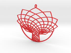 Tree Xmas Flat in Red Processed Versatile Plastic