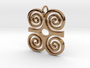 DWENNIMMEN (Adinkra Symbol of Strength) in Polished Brass