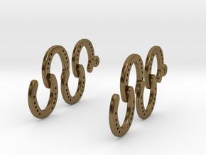Horseshoe Earring in Polished Bronze