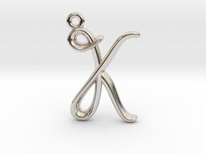 K Initial Charm  in Platinum