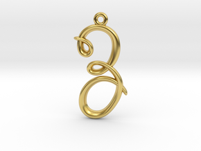 Z Initial Charm in Polished Brass