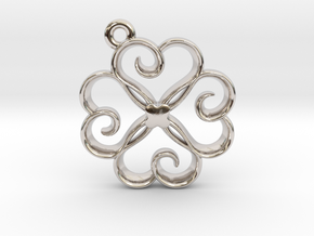 Tiny Clover Charm in Rhodium Plated