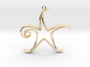 The Star Pendant in 14K Yellow Gold