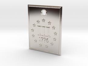 1776 III% Pendant in Platinum