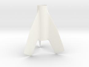 Skybolt Fin Unit BT55 for 24mm motors in White Processed Versatile Plastic