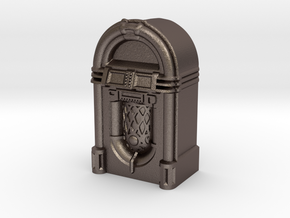28mm/32mm scale JukeBox  in Polished Bronzed Silver Steel