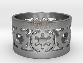 DarkSide Ring alfa  Size 10 in Natural Silver