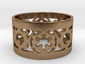 DarkSide Ring alfa  Size 10 in Natural Brass