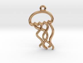 Tiny Jellyfish Charm in Polished Bronze