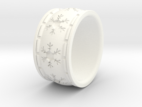 Snowflake Ring Size US 5 (other sizes upon request in White Processed Versatile Plastic