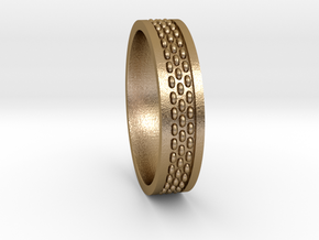 Stitch Sz10 US in Polished Gold Steel