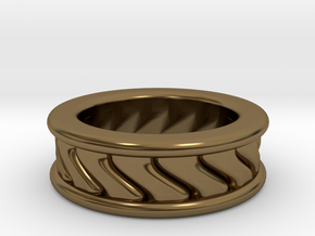 Chunky Vortex Ring in Polished Bronze
