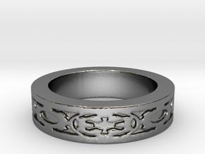 DarkSide Ring delta Size 5.5 in Polished Silver
