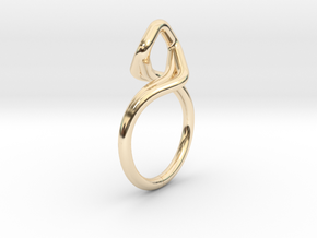 A-LINE Dancing D.03, US size 3.5, d=14,5mm in 14k Gold Plated Brass: 3.5 / 45.25
