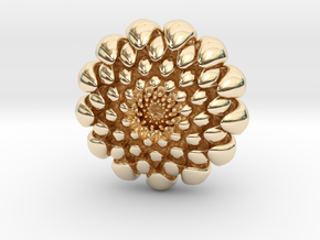 chrysanthemum -kiku- in 14k Gold Plated Brass