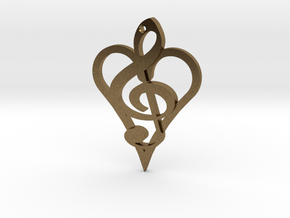 Music From The Heart Pendant in Natural Bronze