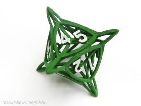 Large 'Center Arc' D8 Tarmogoyf P/T Die in Green Processed Versatile Plastic