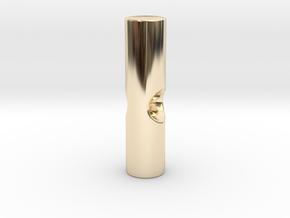 Umbrella rib tip 3mm plastic - 2.6mm metal in 14K Yellow Gold