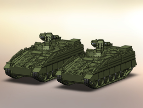 2x SzP Marder 1A5 1:144 in Smooth Fine Detail Plastic