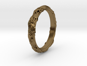 Ring of hands in Polished Bronze