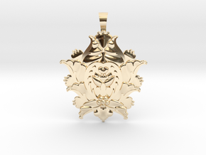 CODE: SL03Z4 - PENDANT in 14k Gold Plated Brass