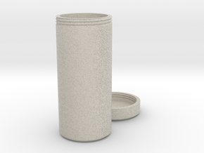 Multi-purpose Bottle with Screw On Cap in Natural Sandstone