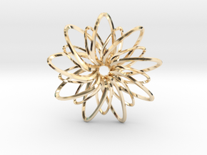 9 Point Slinky Star - 5cm in 14K Yellow Gold