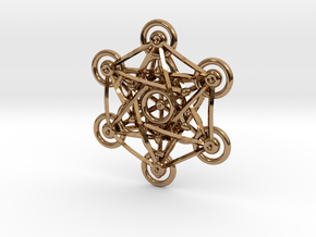Metatron's Cube - 5cm in Polished Brass