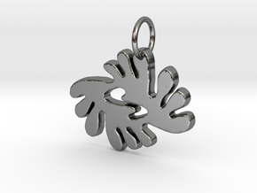 BI NKA BI (Adinkra Symbol of Peace and Harmony) in Fine Detail Polished Silver