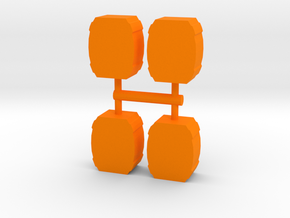 Game Piece, Barrels 4-set in Orange Processed Versatile Plastic