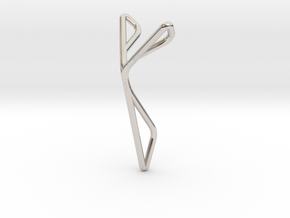 YOUNIVERSAL Superfly, Pendant. Elegance in Motion in Rhodium Plated Brass